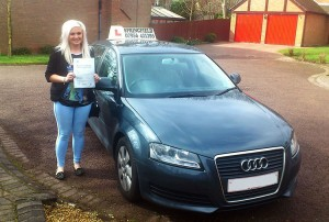 Emma passed her category B licence in April, 2013