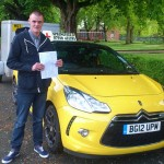 Paul passed his B+E test in May 2014