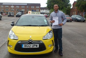 Shawn passed his category B test in May 2014