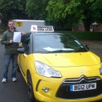 Ben passed his category B+E test in June 2014