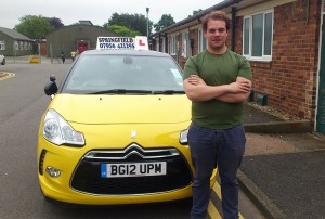 Sean passed his B+E test in June 2014