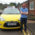 Tony passed his B+E test in June 2014