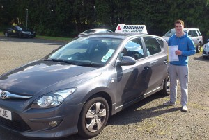 Mitchell passed his category B test in July 2014