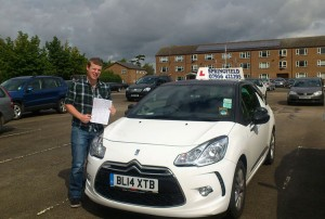 Alex passed his category B test in November 2014