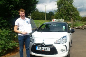 Elliot passed his category B test in November 2014