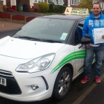 Chris passed his category B test in November 2014
