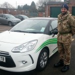 Jag passed his B+E test in March 2015