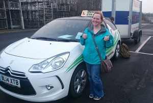 Charlene passed her B+E test in March 2015