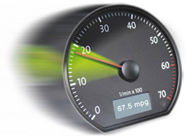 Speed awareness can save fuel